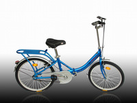 Red big 22 u folding bicycle