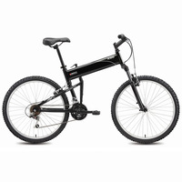 Casual folding bicycle light black swissbike x50 18