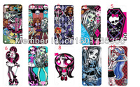 Free shipping 2013 hot  design 12pcs/lots monster high case cover for ipod  itouch 5