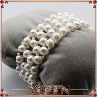four row button pearl  2013 jewelry bracelet