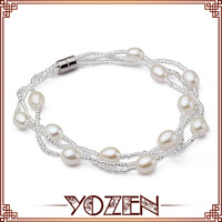 rice pearl with crystal 2013 jewelry bracelet