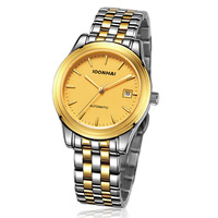Patchwork brand watches male waterproof gold steel strip fully-automatic mechanical watch male commercial watch