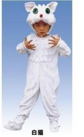 Animal costumes clothing whitecat stage clothes infant wear performance