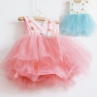 Children's clothing female child summer one-piece dress 2013 tulle dress princess dress layered dress summer female child dress