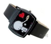 Min.order is 1pcs (mix order) Watch of wrist of black square silicone strap watch - 64373