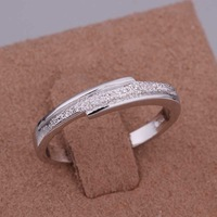 Fashion Platinum Plated Ring Trendy Simple Ring Fashion Jewelry Finger Rings High Quality Not Lose Color Antiallergic XQGSR037
