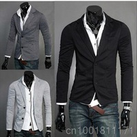 BEST SELLER! Mens Stylish Slim Fit Knitting Blazer Top Jacket Outwear MF-3648
