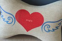 Bone Car Travel Seat Neck Rest Headrest Pillow Cushion 1 Pcs Angel Heart PQ803