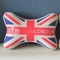 Bone Car Travel Seat Neck Rest Headrest Pillow Cushion 1 Pcs England Flag PQ805