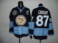 Free shipping ,authentic Pittsburgh Penguins #87 Sidney Crosby winter classic dark blue Jersey