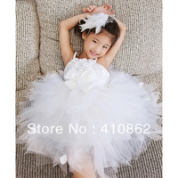 Children's clothing female child puff skirt one-piece dress child princess dress tulle dress flower girl formal dress wedding