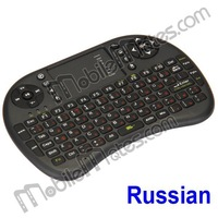 Free Shipping UKB-500-RF Russian 2.4Ghz Mini Wireless Keyboard with large TouchPad for PC, Smart TVs & Android TV Dongles