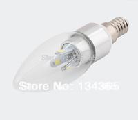 5pcs/lot 6LED SMD5630 3W E14 LED candle bulb light 90-260V glass cover LED lighting cool white candle light