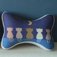 Bone Car Travel Seat Neck Rest Headrest Pillow Cushion 1 Pcs Five Cats PQ812