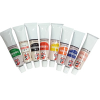 Toothpaste paint t body colored drawing premium oil paint