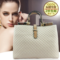 2013 women's handbag fashion crocodile pattern genuine leather handbag women's first layer of cowhide tote bag