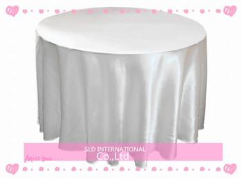 10pcs/lot Free Shipping White Satin Cheap 90'' round wedding tablecloths