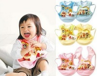 FREE SHIPPING/Hot Selling  Baby Cartoon Waterproof Clothing Bib Aprons/Dinner/Drawing Burp Coths