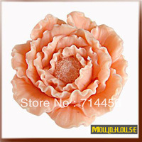 Free shipping 1pc 3D Silicone  Peony flower soap mold ,fondant cake mold,sugar craft tool,bakeware tool