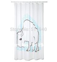 1 piece 200*180cm 100% polyester cartoon pattern shower curtain