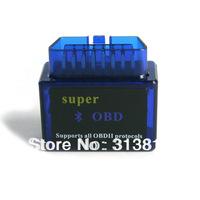 10pcs/lot Super Mini ELM327 Bluetooth OBD2 OBD-II CAN-BUS Diagnostic Scanner Tool,Free shipping