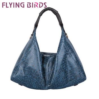 FLYING BIRDS! FREE SHIPPING  leather The new portable crocodile pattern handbag shoulder Bag LS0434