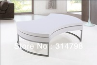 Side Table, Made of Wood with High Glossy Painting, 360 degree rotatable Modern coffee table for living room