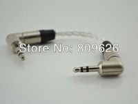 High quality silver plated headphone cable with Neutrik 3.5MM angle plug audio cable 15cm