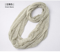 2013 Factory Wholesale price Free shipping (1PCS SALE) Newest Women' SHAWLS SCARF, Solid Color Hollow knitted Wool Scarf ,W3007