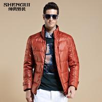 Free shipping Men's clothing down coat male 2013 plus size slim down coat male