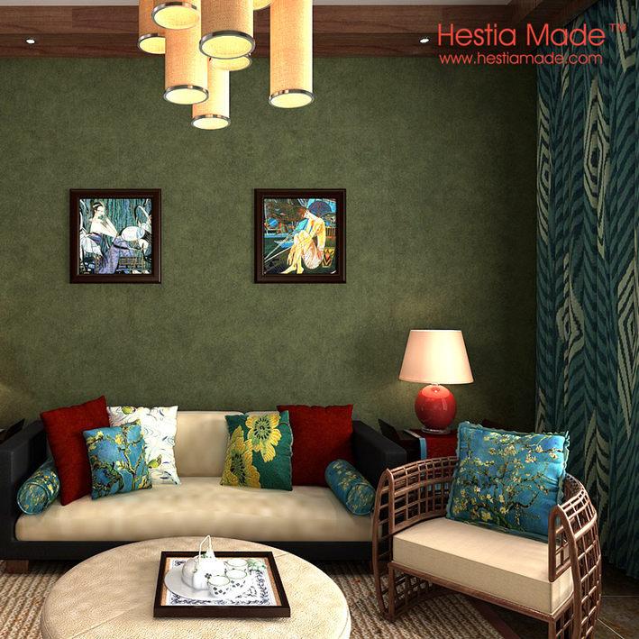 Non woven behang engeland eenvoudige olijfgroen behang voor de woonkamer slaapkamer muur - Room muur van de baby ...