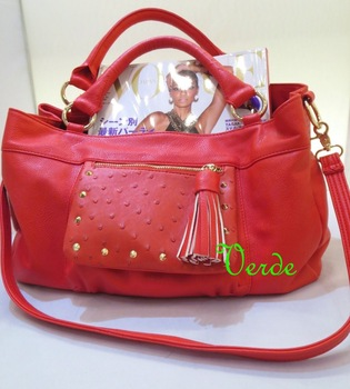 Hot women leather handbag lday's pu bag