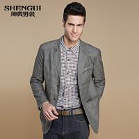New2013 2013 autumn fashion colorant match suit men's clothing casual thin suit outerwear male