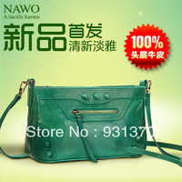 Hot sale Nawo 2013 women's genuine leather handbag first layer of cowhide rivet one shoulder bag cross-body bag small