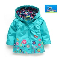 Free shipping 2013 new baby clothing Spring autumn baby coat girl windcheater topolino jacket kids trench baby outerwear