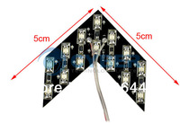 20Pcs/Lot 14-SMD LED Arrow Panels for DC 12V Car Side Mirror Turn Signal Indicator Lights Red TK0122