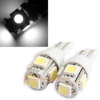 R1B1 2PCS T10 5050 5SMD LED White Light Car Side Wedge Tail Light Lamp Bright