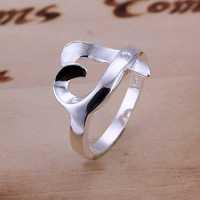 Free Shipping 925 Sterling Silver Ring Fine Fashion Zircon Kelp Silver Jewelry Ring Women&Men Gift Finger Rings SMTR031