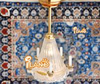 iland 1/12 Dollhouse Miniature Ceiling Light 3V 5 Candles LED Lamp LC023 classic toys