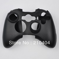 Retail selling 2pcs Black Game Controller Silicone Skin Case Cover for xbox360 controller
