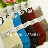 Free Shipping women's multicolor in tube socks, bamboo fibre material comfortable jacquard anti-odor women socks 5 pairs/lot