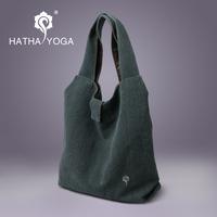 Free Shipping Hatha gray - blue Yoga high-grade gym Bags Thick cotton canvas Durable Do not fade bag