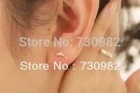 pure 14k  glod  women Earrings small dolphin fish earrings  fashion trendy jewelry  gifts free shipping