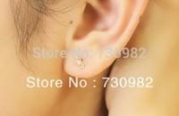 pure 14k  glod  women Earrings small butterfly sleeves  earrings  fashion jewelry free shipping