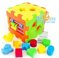 10 shape mental case boy toy storage baby educational toys plastic building blocks assembling
