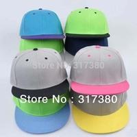 10pcs COOL Mix Colors Flat Brimmed Snap Back Hats Unisex Baseball Cap Men Snapback Caps Mens Visor Hip Hop Women Sport Hat Blank