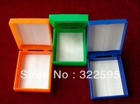 free shipping microscope glass slide box slides storage box 25pcs slides in