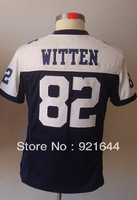 Free Shipping -#82 Jason Witten Women's Game Alternate Throwback Navy Football Jersey