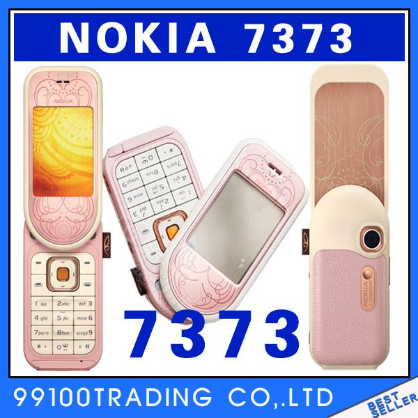 Nokia 7373 Mobile Phones Bluetooth Java FM Radio 2MP Free Shipping Refurbished(China (Mainland))