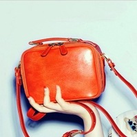 2013 autumn chromophous cosmetic bag casual bags handbag fresh candy color one shoulder women's handbag bag